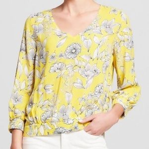A New Day Yellow Floral Blouse